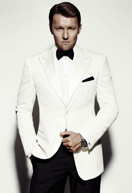 Beyaz Smokin Erkek Takim Elbise Modasi Smokin Takim Elbise