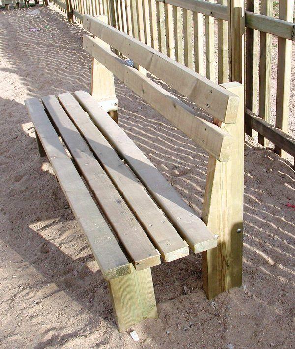 Actividades escolares bancos rusticos de madera muy buenas ideas para jardiner a bancos - Banco de madera rustico ...