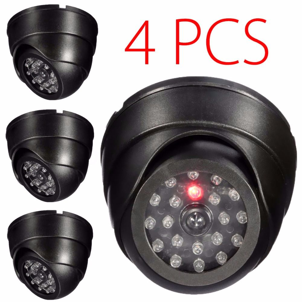4 pack dummy security camera fake dome cam home surveillance 4 pack dummy security camera fake dome cam home surveillance simulation cctv cameras housing flashing blinking aloadofball Image collections