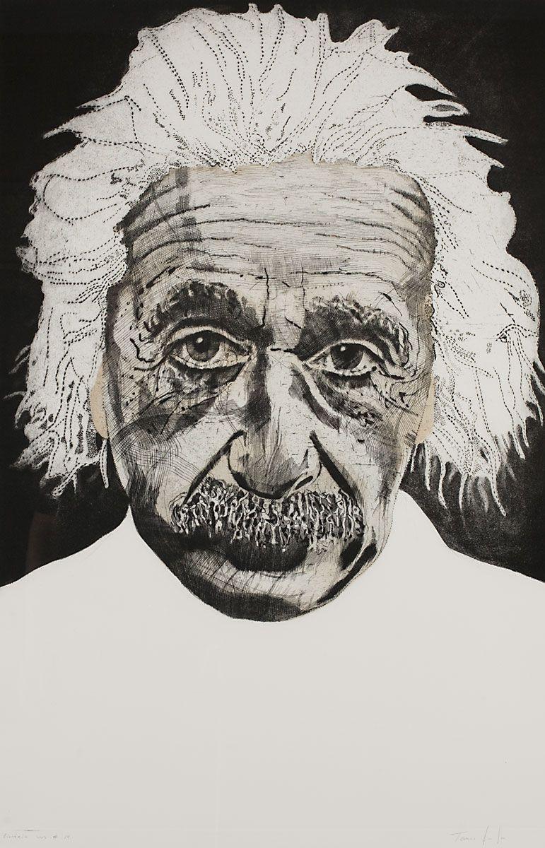 """Einstein WS #14  Unique Etching   37 x 24""""      SOLD"""