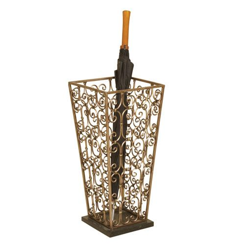 Passport By Mario Goldtone Metal Umbrella Stand With Marble Base