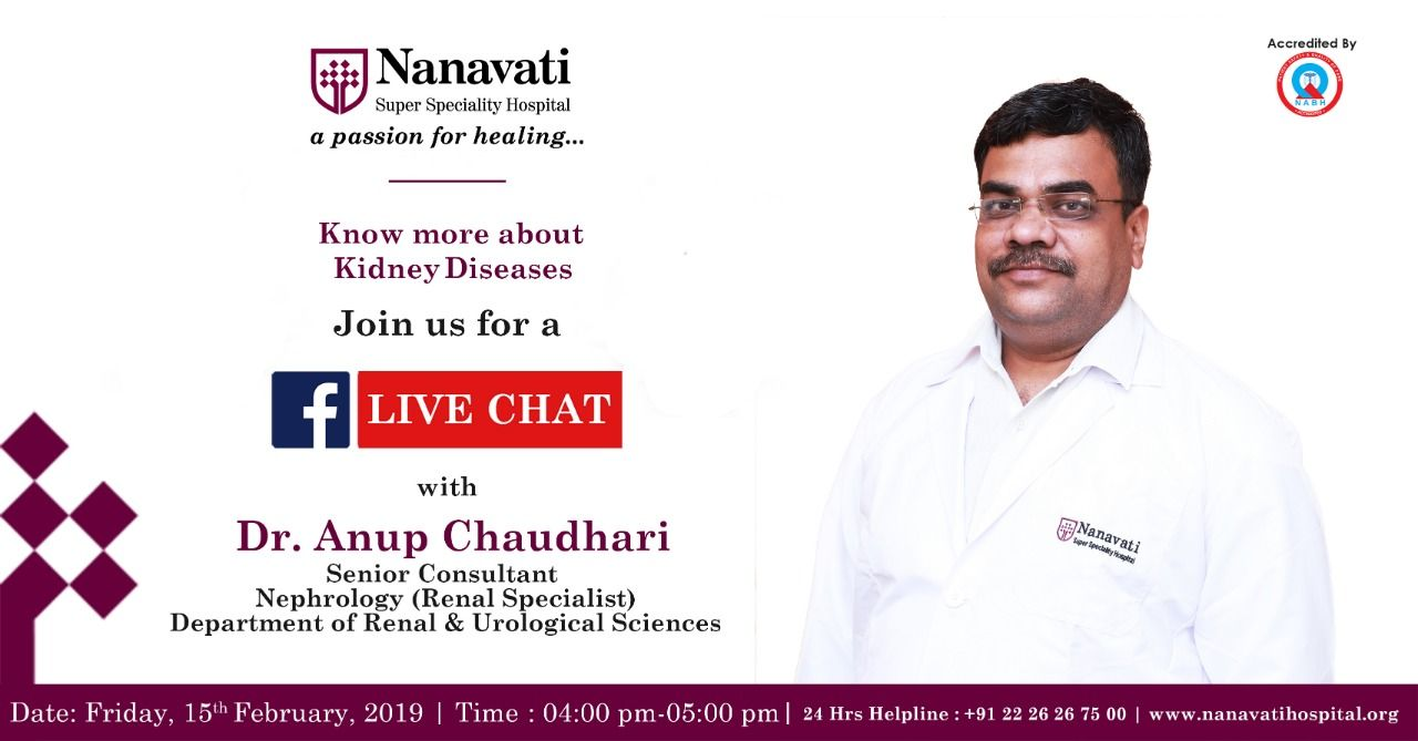 Join our #Facebook #Live #Chat with Dr  Anup Chaudhari