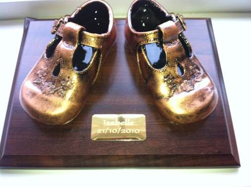 We bronze baby shoes. Your baby's first steps are cherished ...