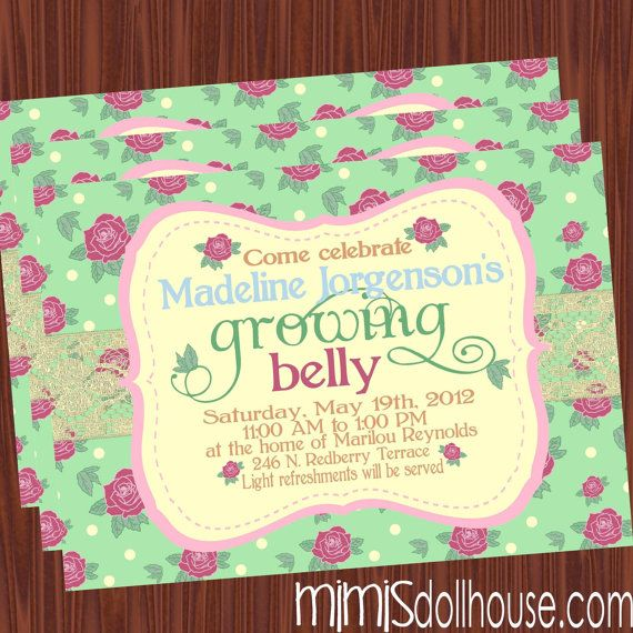 garden theme baby shower invitations – Garden Party Baby Shower Invitations