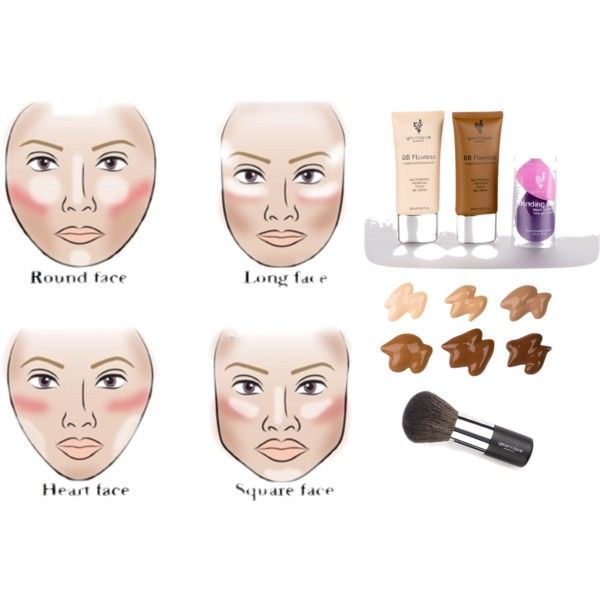 Highlight and Contouring with Younique by kim-willis on Polyvore featuring beauty