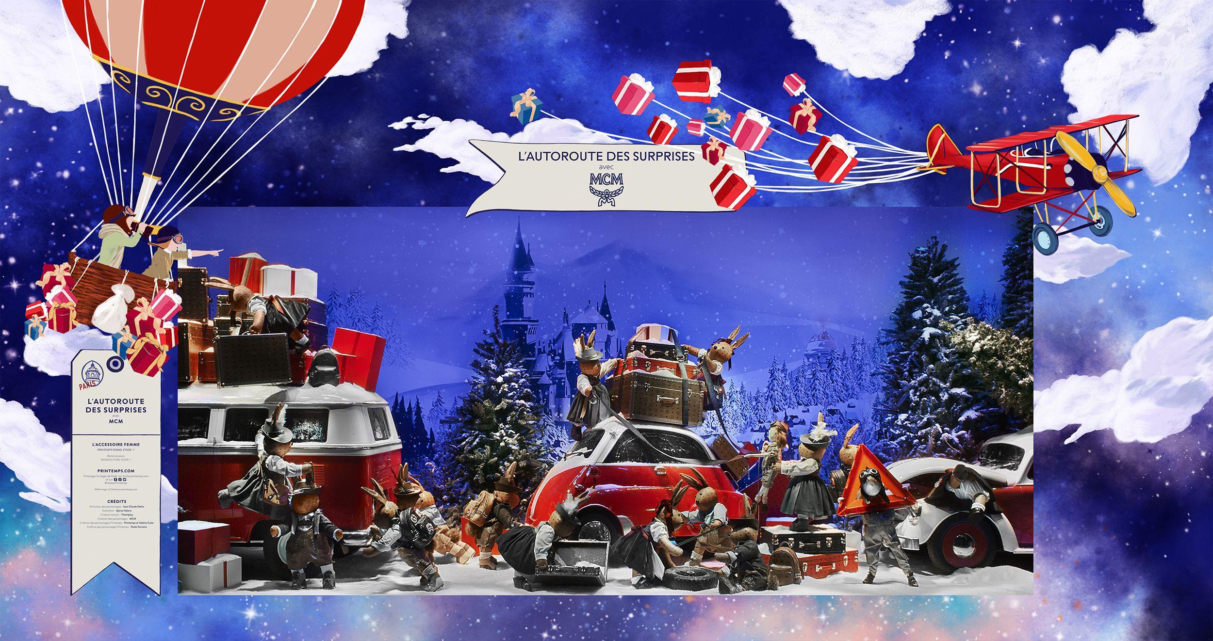 Noël, L'extraordinaire voyages des cadeaux Vitrine de Noël du