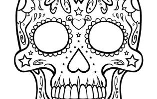 sugar skull coloring pages Natashas monster high birthday