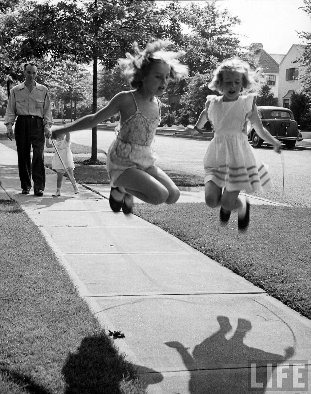 Jumproping. Us girls could always be found with a jump