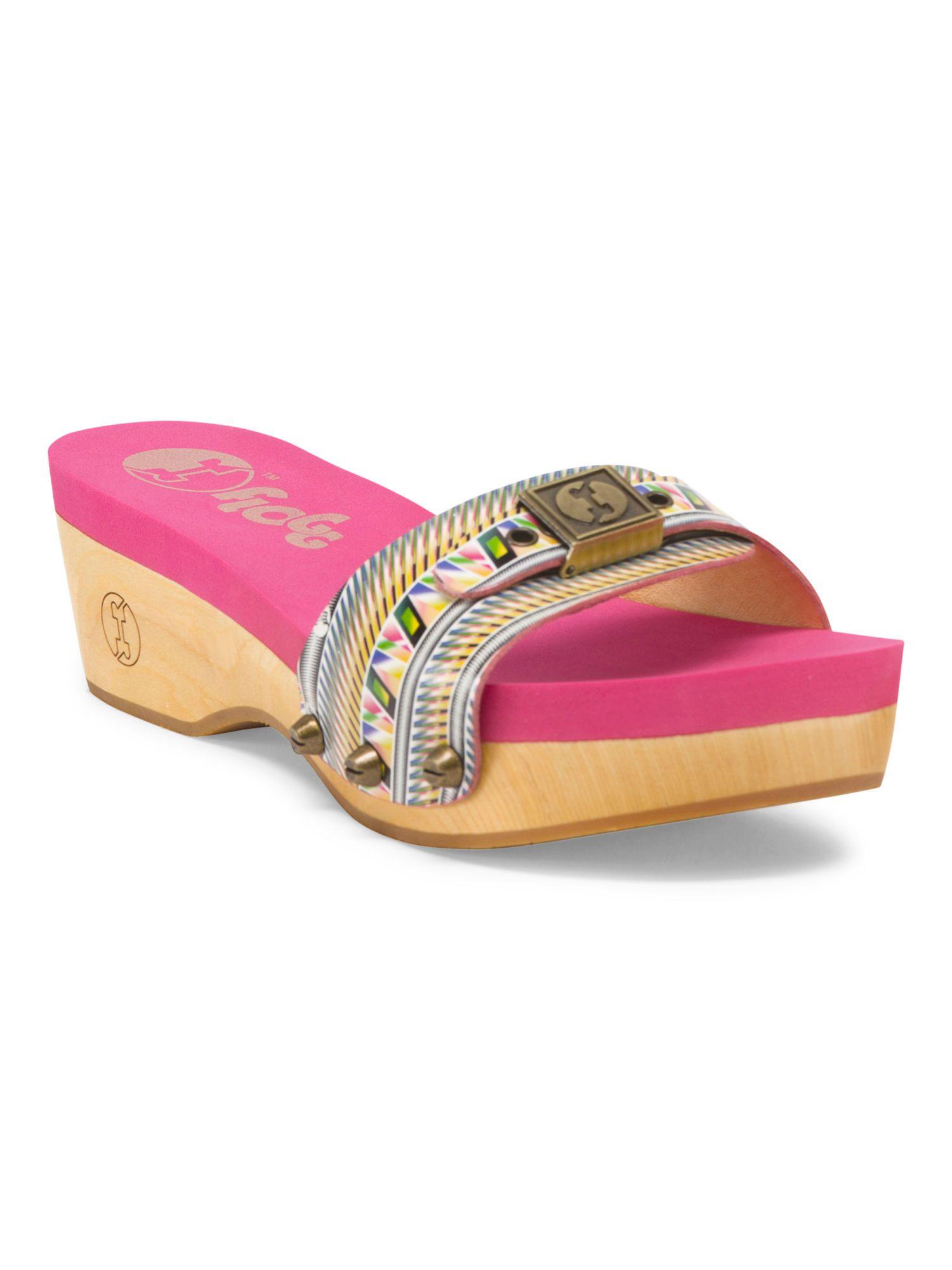 Leather slide on sandal sandals tjmaxx leather