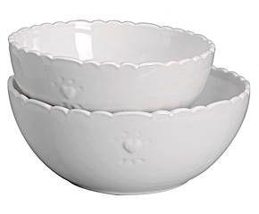 Set de 2 ensaladeras en dolomita – blanco