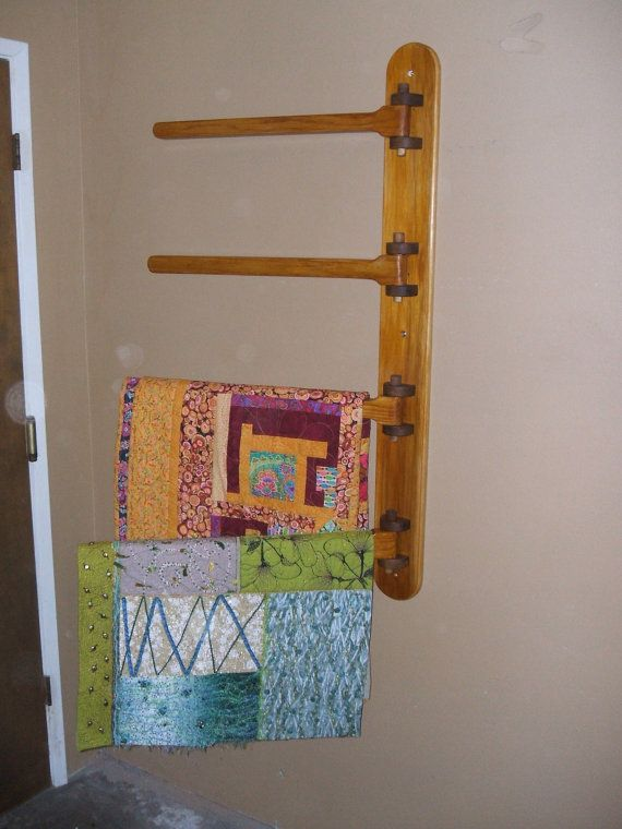 Wall Mounted 4 Rung Quilt Hanger By 12346810 On Etsy 175 00