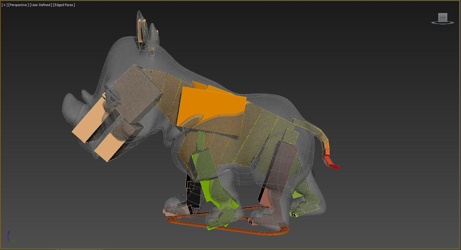 Rigged and Animated Cartoon Rhino #Max#VRay#Standard#Physical | 3d
