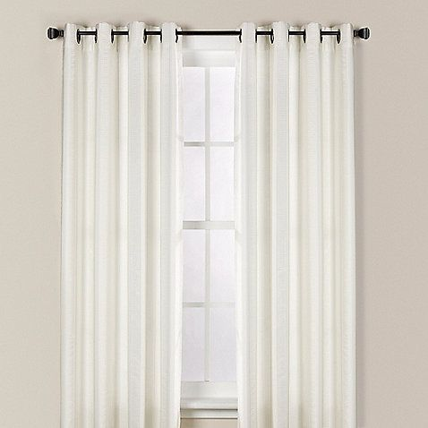 Chandler Woven Stripe Window Curtain Panels