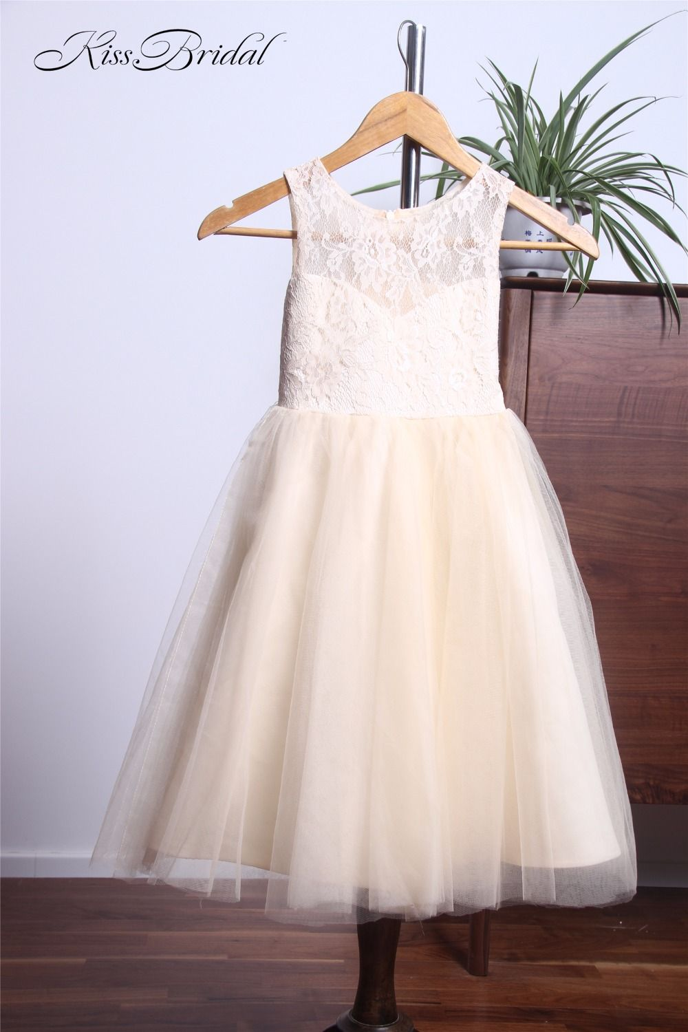 Click to buy ucuc lovely long flower girl dresses for weddings cute