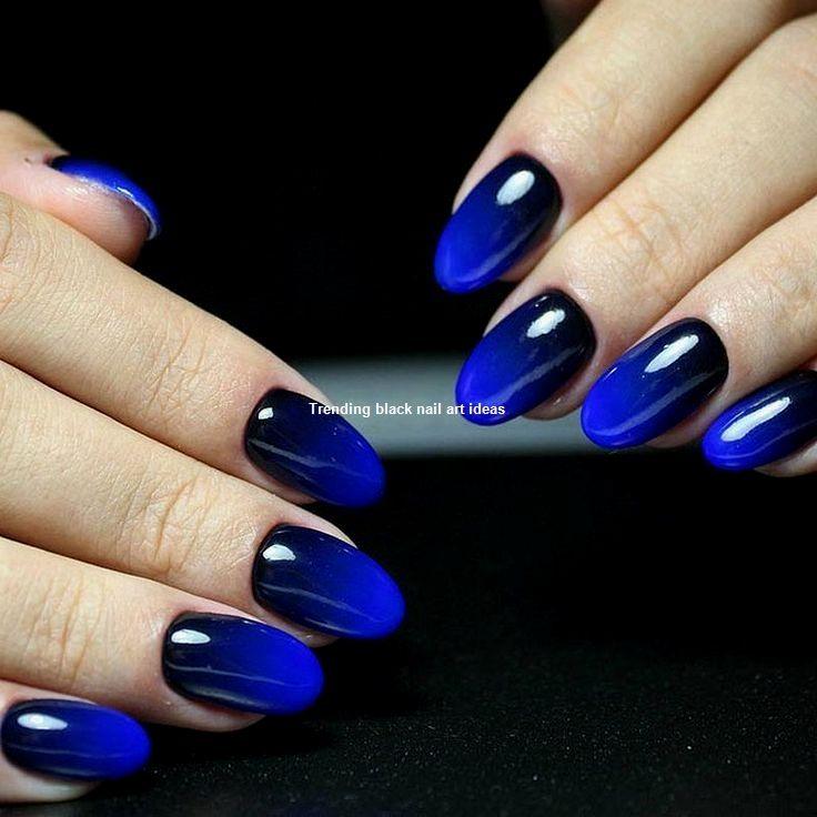 20 Simple Black Nail Art Design Ideas Nail Gradient Nails Gradient Nail Design Ombre Nails Tutorial