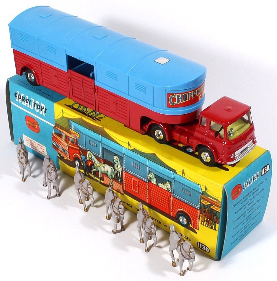 Corgi Toys 1130 Chipperfields Circus Horse Transporter Pic. credit www.Qualitydiecasttoys.com