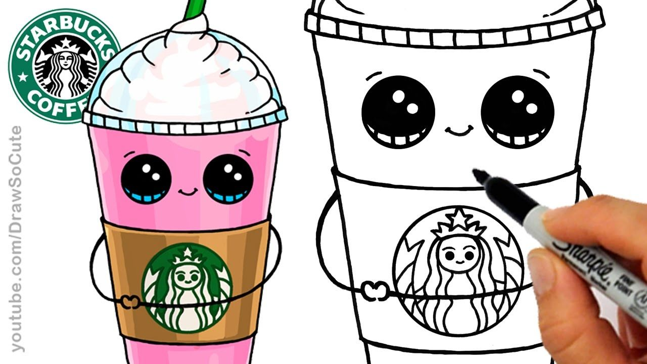 Awesome Draw So Cute Coloring Pages Starbuck Collection Cute Food Drawings Cute Drawings Cute Cartoon Drawings