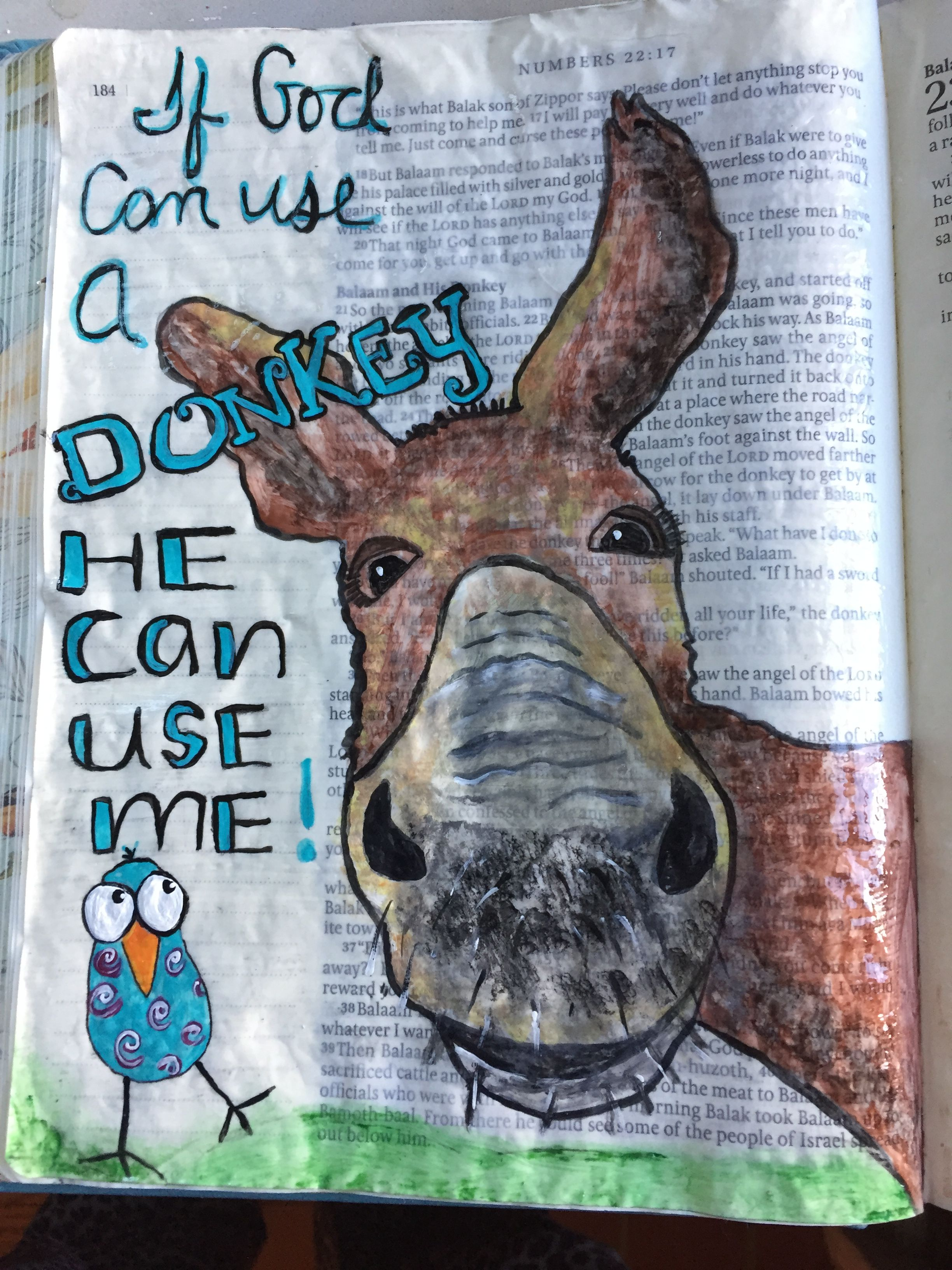 Numbers 22:21-39 God causes Balaam's donkey speaks to him