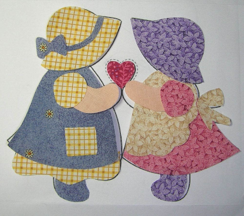 Free Sunbonnet Sue Quilt Pattern Quilting With A Friend Keeps Me In Stitches Quilt Patterns Free Quilts Quilt Patterns
