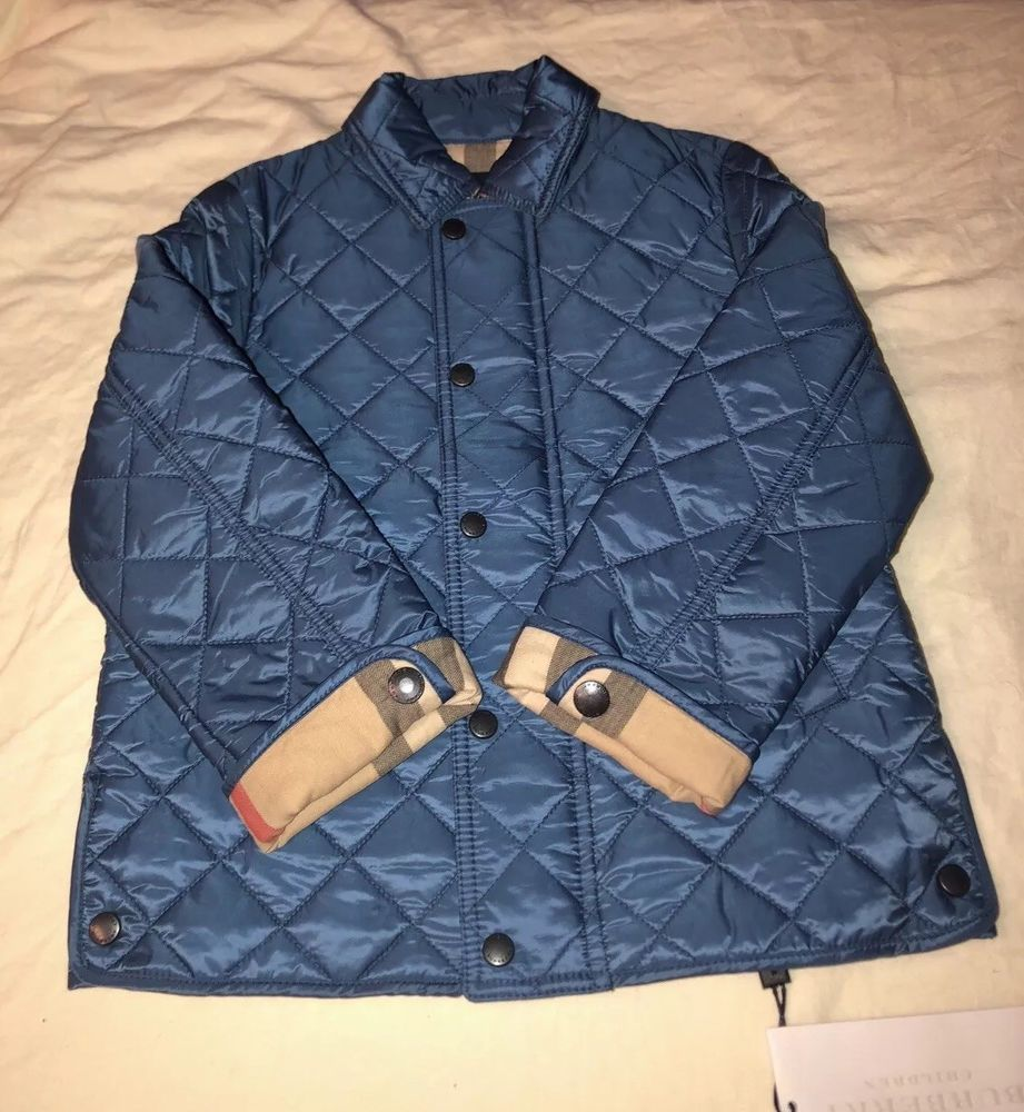 Ebay Sponsored Kids Burberry Quilted Jacket Blue Size 3y