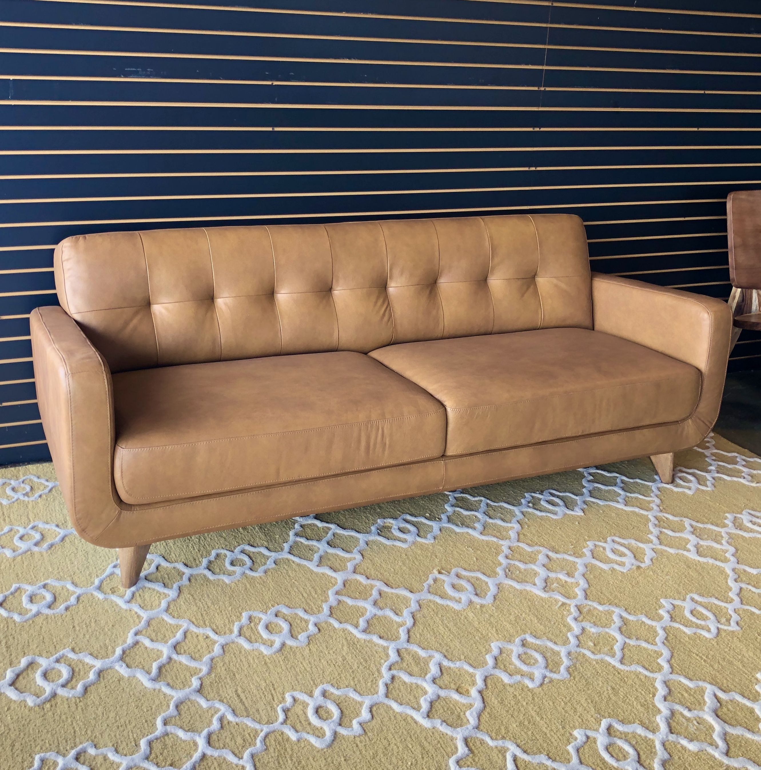 Mid Century Modern Furniture Leather Sofa By Midinmod Furniture