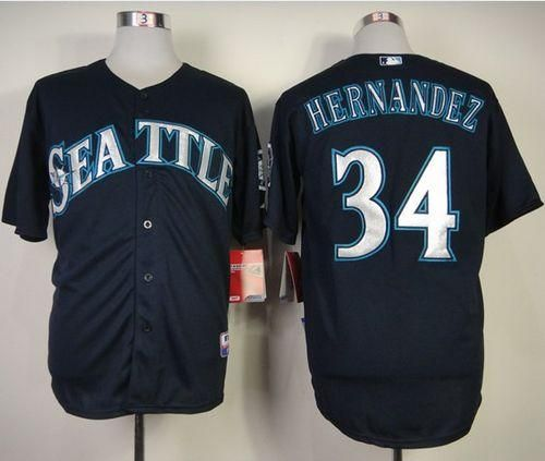 e0859d348 ... grey authentic where to buy mariners 34 felix hernandez navy blue cool  base stitched mlb jersey df954 c49d9 ...