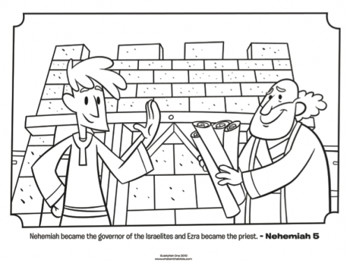 Kids Coloring Page From Whats In The Bible Featuring Ezra And Nehemiah 5
