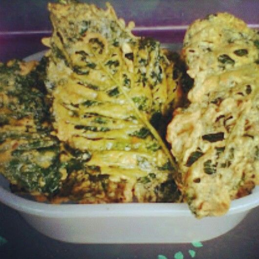 Peyek Bayam Savory Dessert Food Culinary