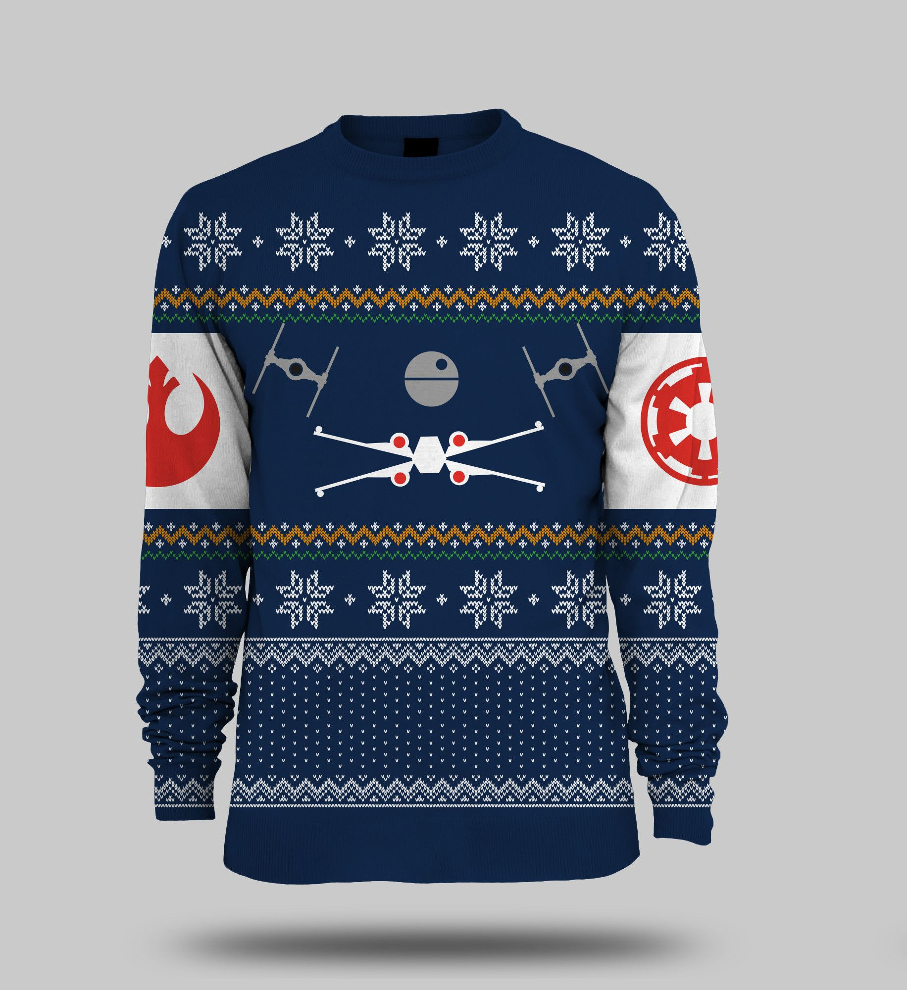 Sweater Tie Fighter Official Star Wars Christmas Jumper X-Wing Vs