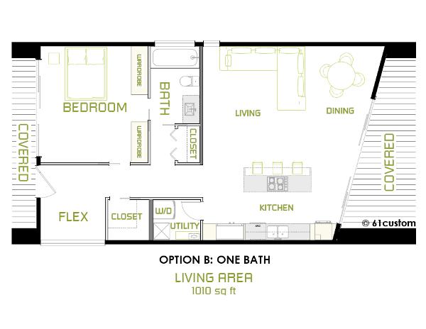 the minimalist: small modern house plan | modern house plans, small