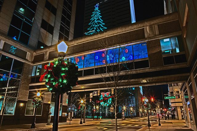 Christmas In Downtown Fort Wayne Such A Great Shot Fort Wayne