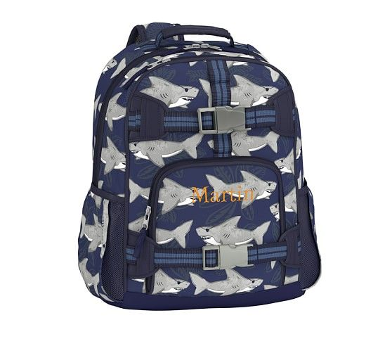 Mackenzie Pirate Shark Backpack Pottery Barn Kids