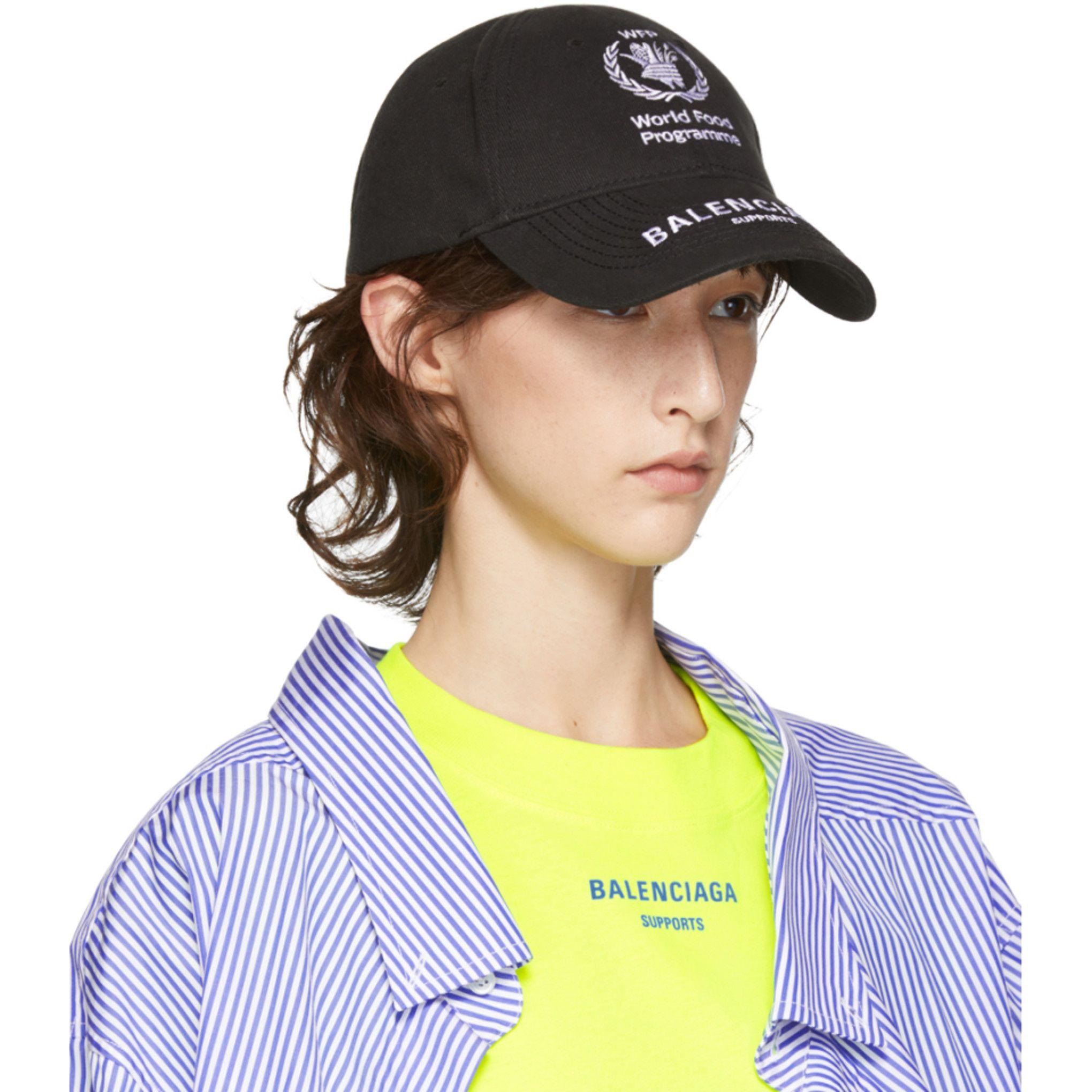 e16f2be959d1f Balenciaga - Black World Food Programme Embroidered Cap