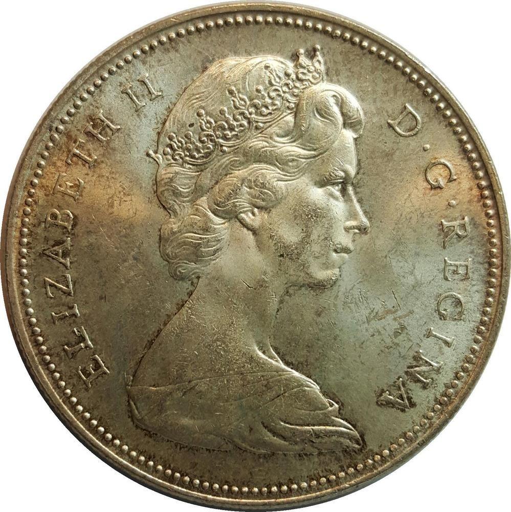 1966 1 Silver Canada Dollar Silver Coins Dollar Silver
