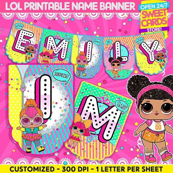 LOL Surprise Banner With Namelol Surprise Partylol T