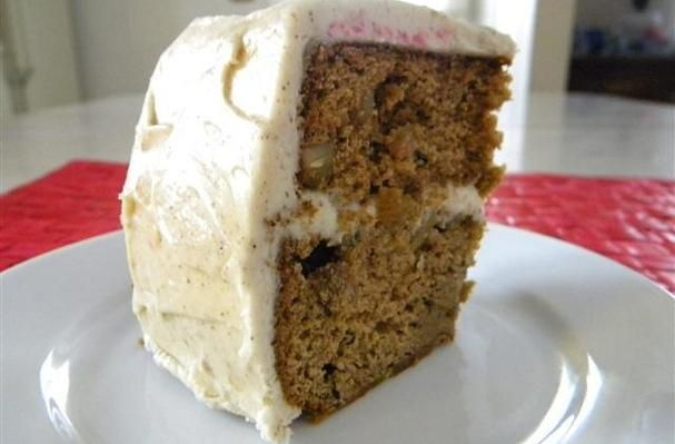 Sour Cream Spice Cake With Cream Cheese Frosting Recipe Sour Cream Spice Cake Cake Cake With Cream Cheese