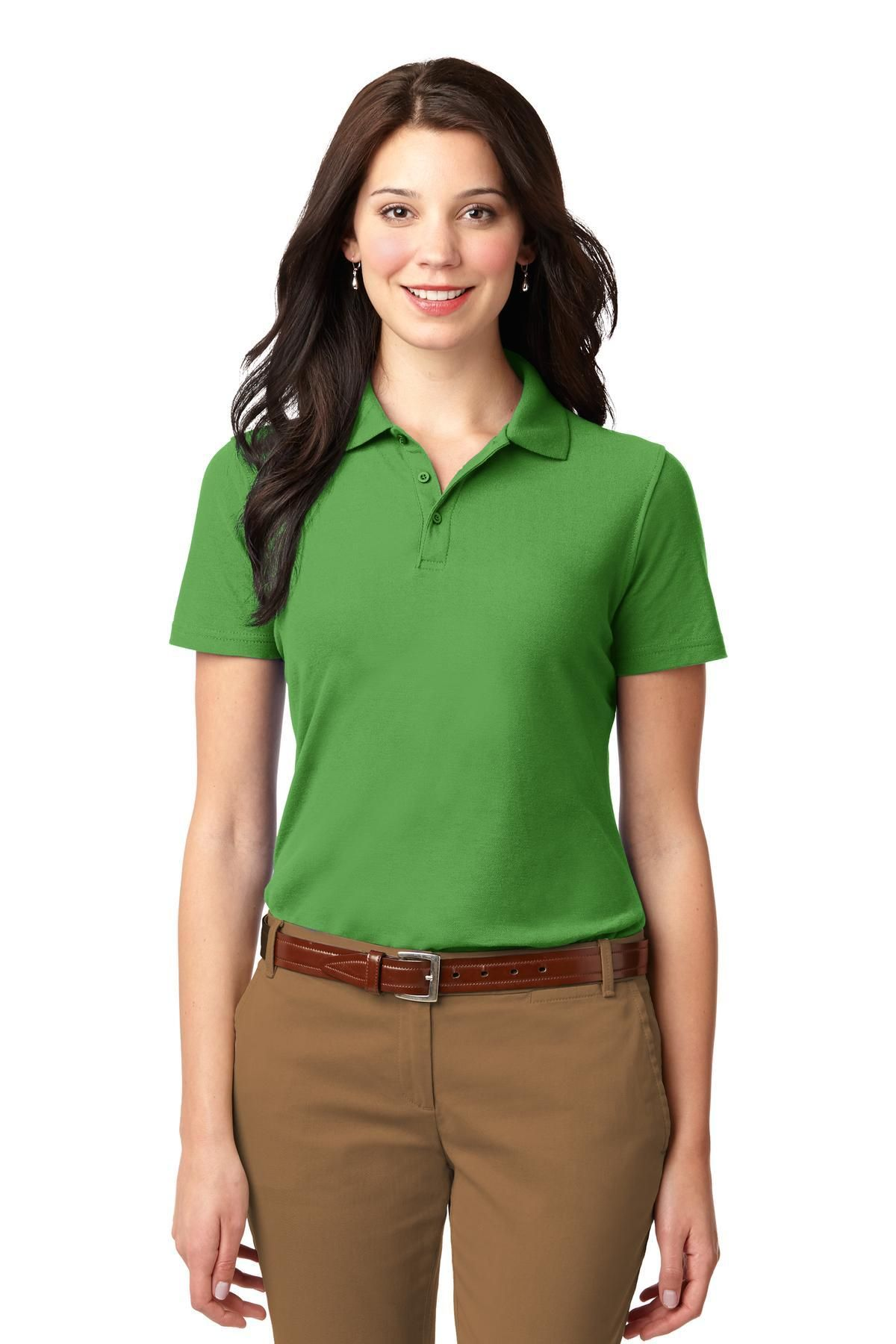 12d300c4ea2 Port Authority Ladies Stain-Resistant Polo L510 Vine Green in 2019 ...