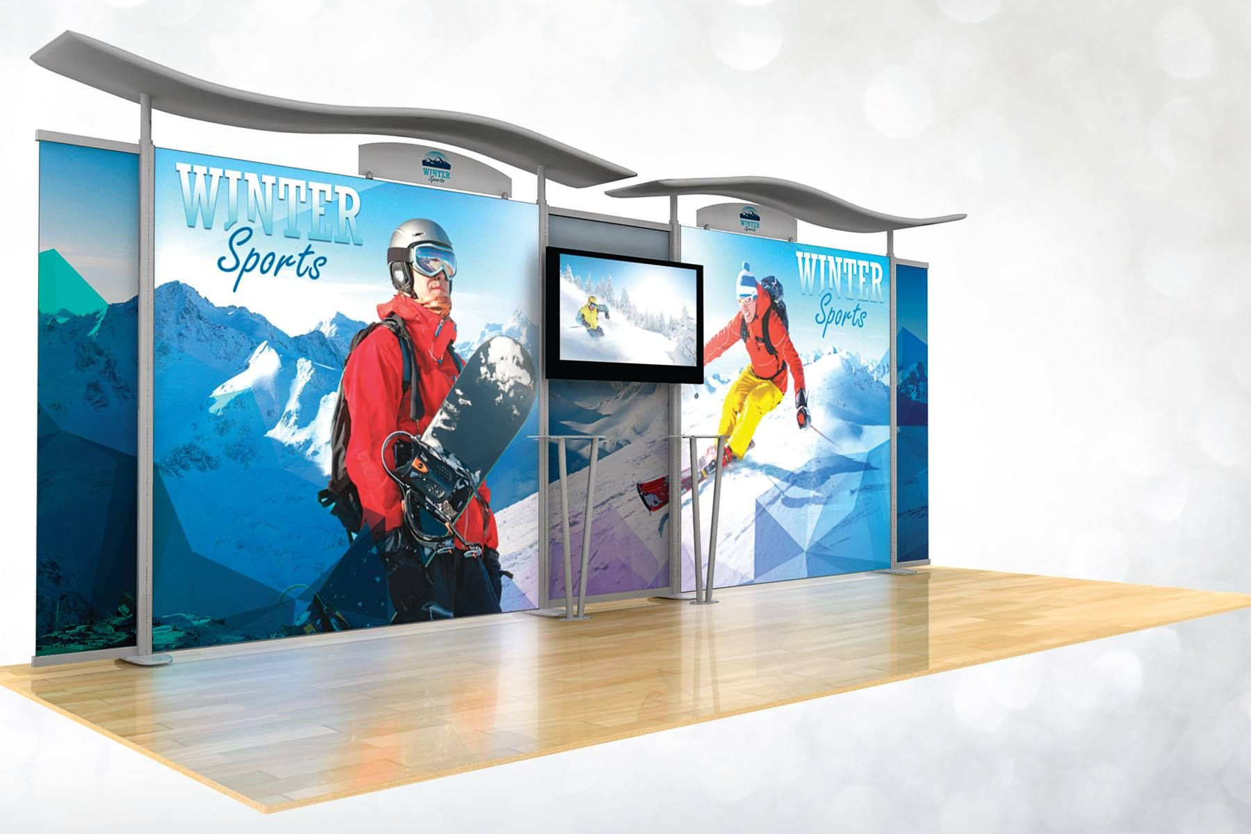 10 X 20 Backlit Modular Trade Show Display Featuring 2 LED Graphic Light