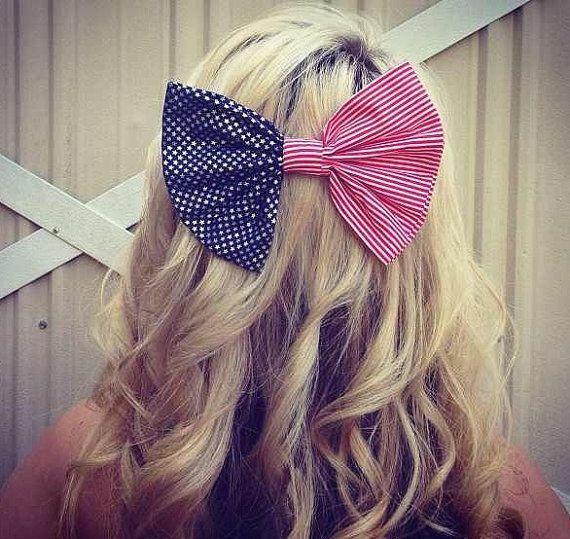 Flag Bow American Flag Bow Flag Hair Bow By Swankydoll On Etsy 7 00 American Flag Bow Hair Bows Bows