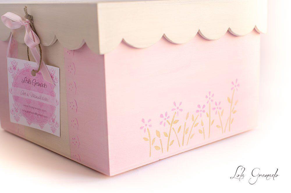 Caja de madera para bebes ni a cajas decoradas cajas - Cajas decoradas para bebes ...