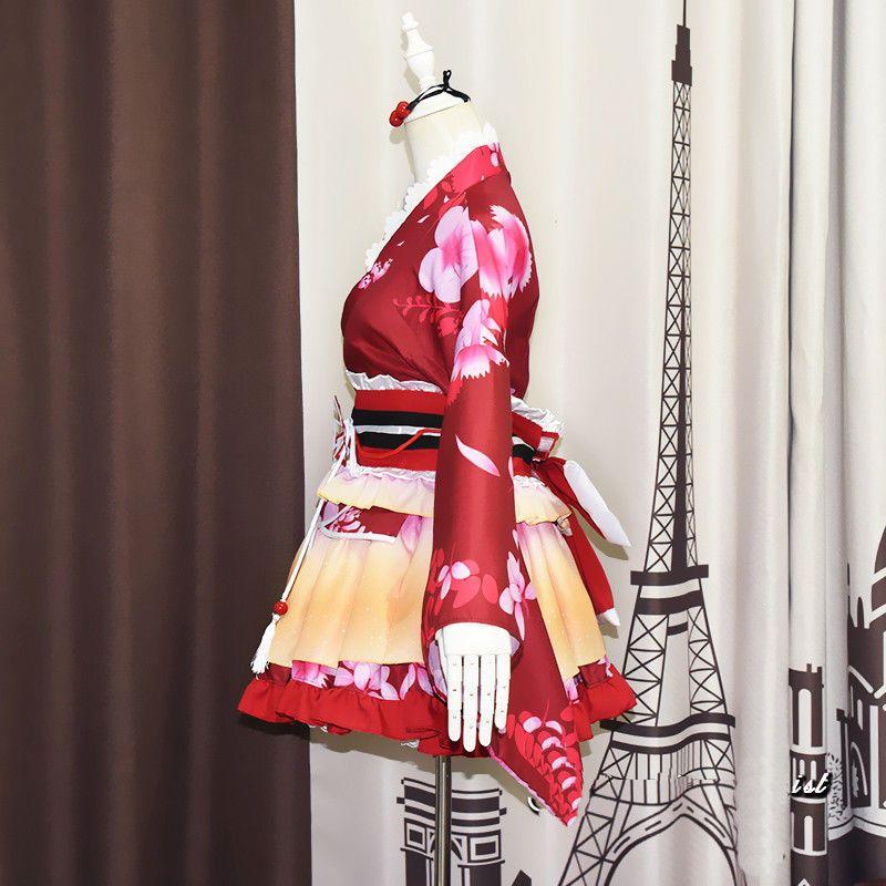 Love Live Umi Rin Nico Honoka Maki Dancer Kimono Cosplay Costume Yukata Lot