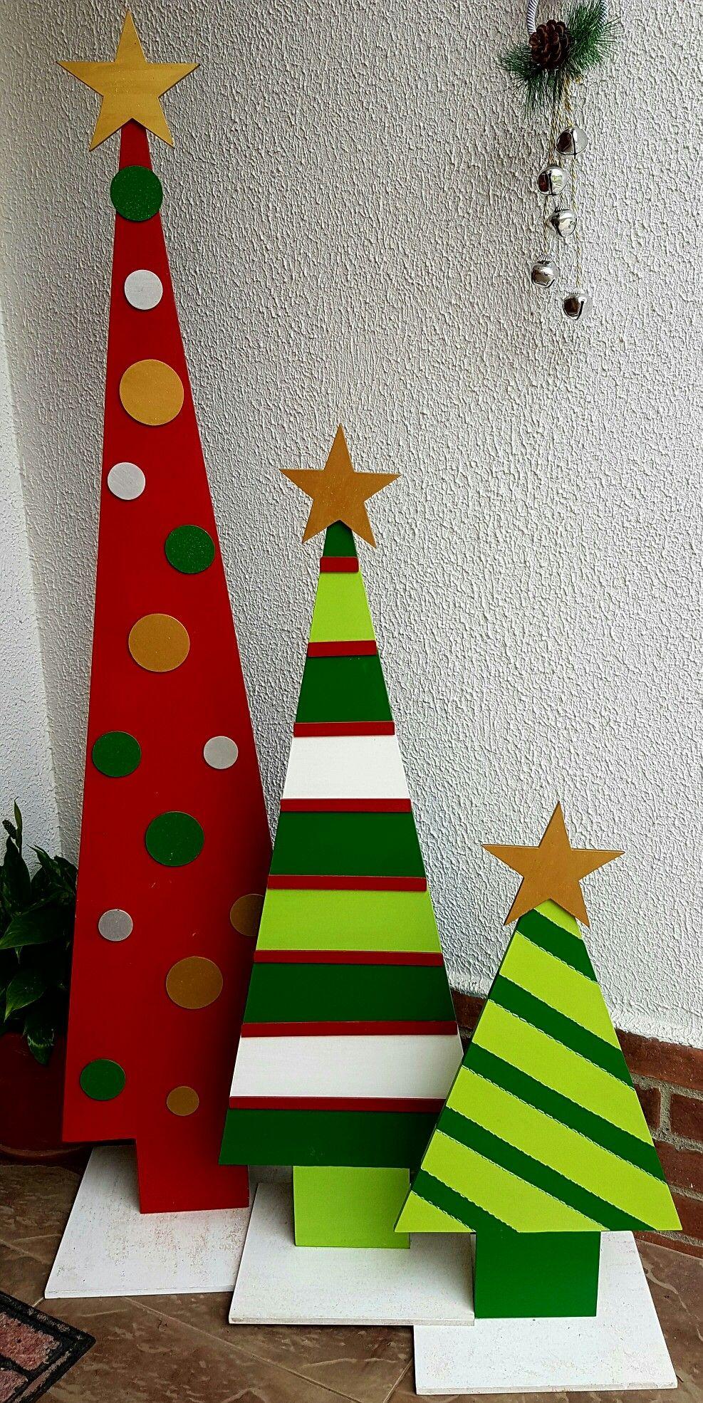 Decoracion Arbol De Navidad De Madera