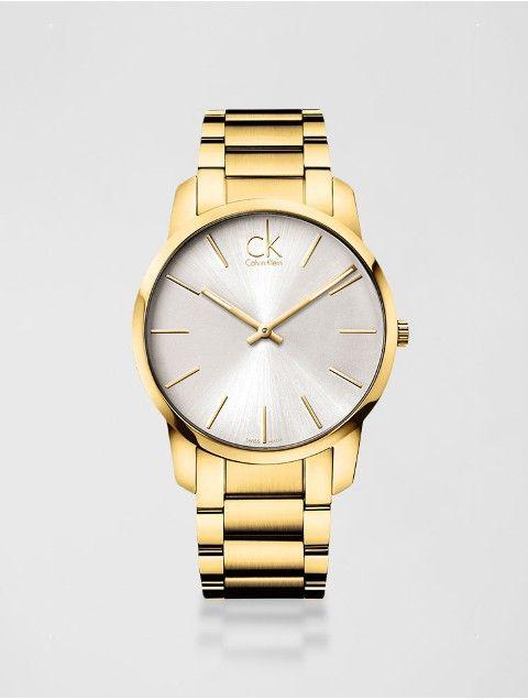 bee516bb306 Relógio Calvin Klein Pulseira De Aço Dourado - Calvin Klein ...