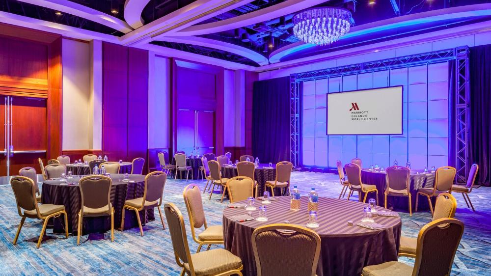 Grand Ballroom 5 6 Banquet Orlando Florida Resort Hotel