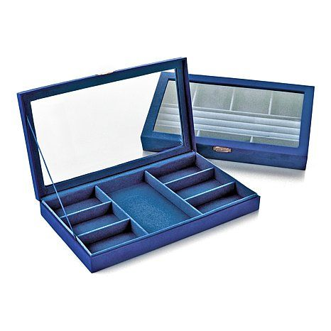 Hsn Jewelry Boxes Enchanting Colleen's Prestige™ Set Of 2 Stackable Jewelry Boxeshsn Black Inspiration Design