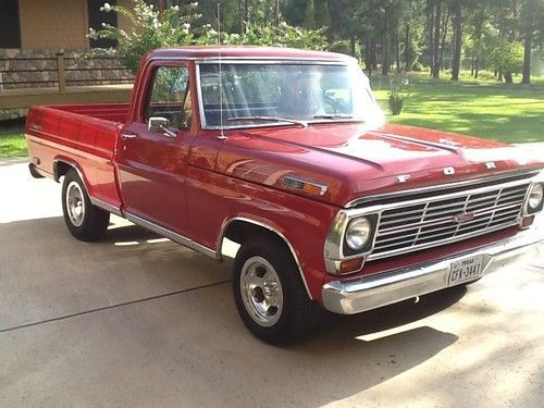 All Red Ford Trucks 1969 Ranger F 100 Truck 1967 1968 1970 1971 1972 Short Wide Bed