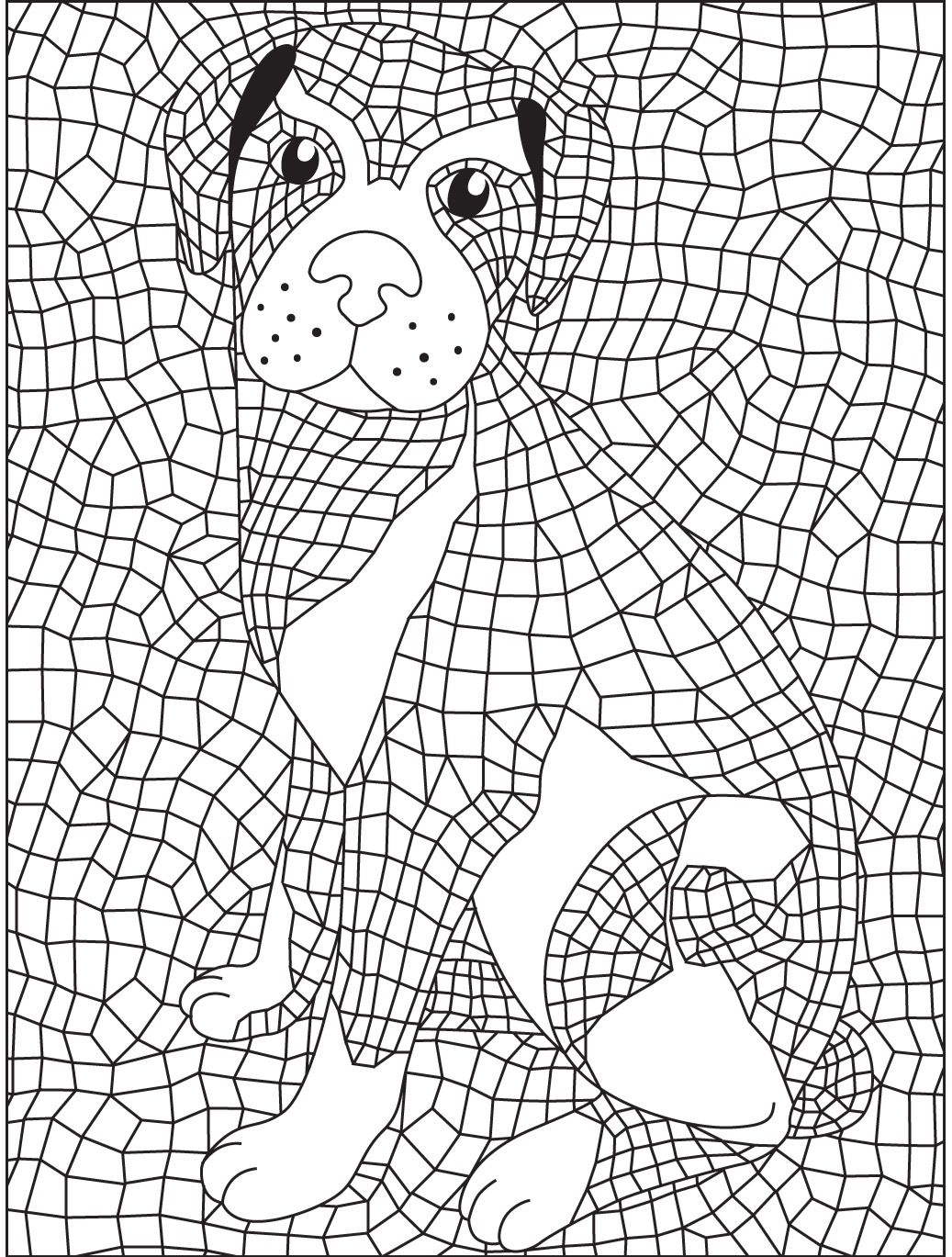 Geometric colorish coloring book app for adults by goodsofttech