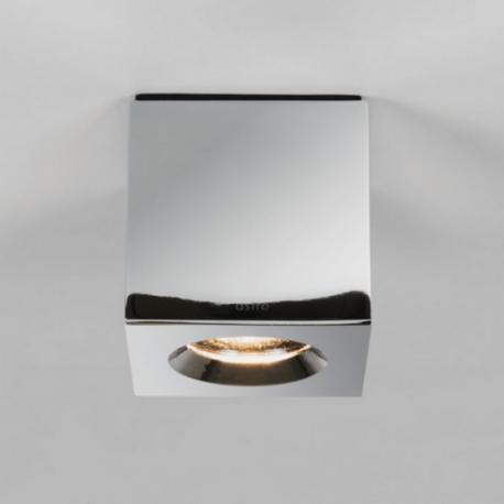 Plafonnier étanche Lampe Kos square LED IP65 H8 cm Chrome