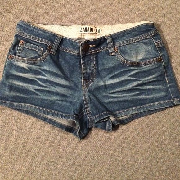 Zanadi denim shorts Zanadi denim shorts junior size 11. Front pockets and button back pockets. Single button and zipper closure. Worn a few times but still in great condition. No damages. Make an offer or ask for a bundle deal  Zanadi Shorts
