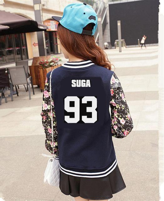 Kpop Bts New Women Long Sleeve Jacket Baseball Sweatshirts K-pop Bts Bangtan Children Autumn Winter Hoodies Schoolgirls Uniform Women's Clothing
